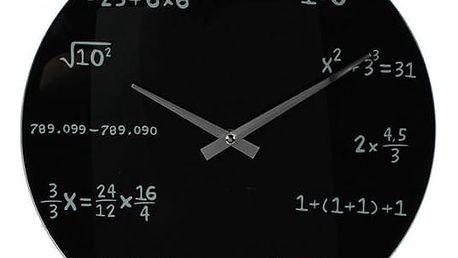 Matematické hodiny - černé