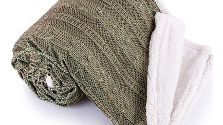 Jahu Beránková deka Agnello zelená, 150 x 200 cm