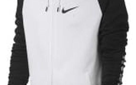 Pánská Mikina Nike M NSW HOODIE FZ BB AIR HYB | 832148-011 | Černá, Bílá | 2XL