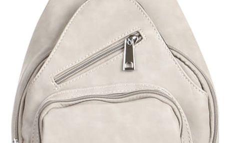 Malý koženkový batůžek šedá