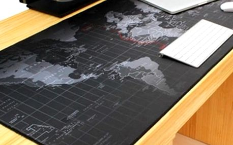 Velká podložka pod myš - Mapa světa