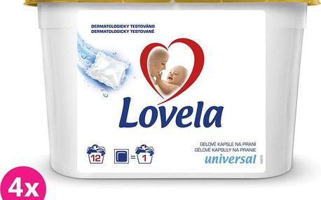 4x LOVELA Gelové kapsle 12ks – prací gel