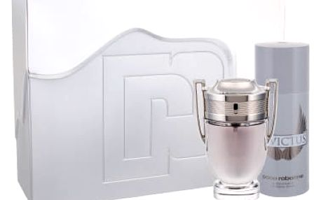 Paco Rabanne Invictus dárková kazeta pro muže toaletní voda 100 ml + deosprej 150 ml