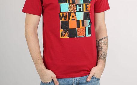 Tričko Vans Mn Otw Checker Blast Cardinal-Black Červená