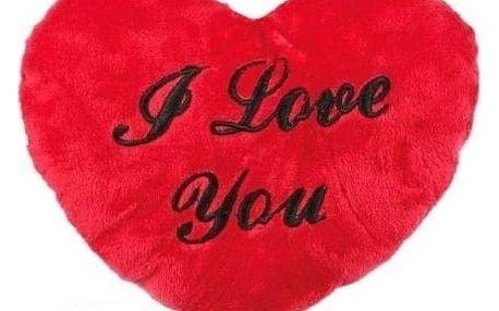 Plyšové srdce s nápisem I Love You 35 cm