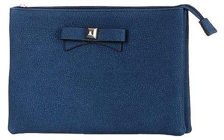Větší psaníčko/malá kabelka s mašlí modrá
