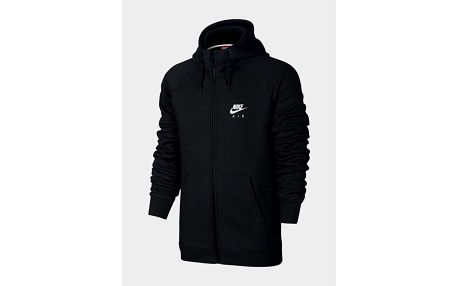 Mikina Nike M NSW HOODIE FZ FLC AIR HRTG Černá