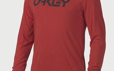 Tričko Oakley 50-Mark Ii L/S Tee Red Line Červená