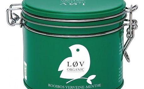 Løv Organic Rooibos čaj Verbena Mint - 80 g, zelená barva, kov