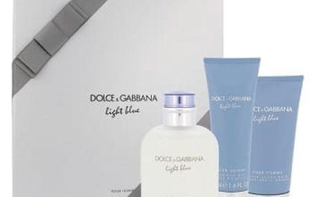 Dolce&Gabbana Light Blue Pour Homme dárková kazeta pro muže toaletní voda 125 ml + balzám po holení 75 ml + sprchový gel 50 ml