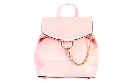 Malý koženkový batůžek s řetízkem růžová