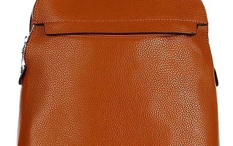 Větší koženkový batoh hnědá