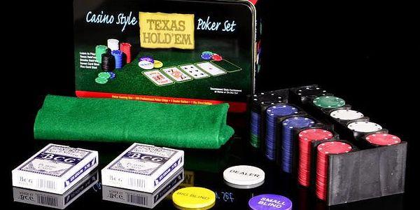 Garthen 998 Poker žetony 200ks v plechové dóze