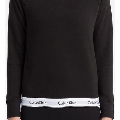 Calvin Klein černá dámská mikina Top Sweatshirt