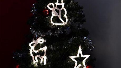 Nexos Trading GmbH & Co. KG 32549 Vánoční dekorace na okno - hvězda, sněhulák, sob - LED FROST