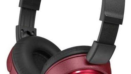 Sluchátka Sony MDRZX310R.AE (MDRZX310R.AE) červená + Doprava zdarma