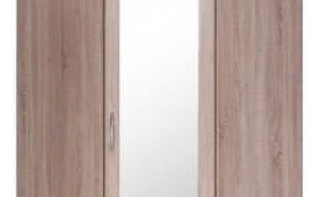 Cassanova - Šatní skříň rohová (1x dveře se zrcadlem)