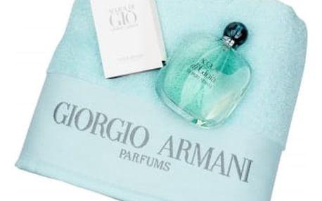 Giorgio Armani Acqua di Gioia EDP dárková sada W - Edp 100ml + ručník + 1,5ml edt Acqua di Gio Men