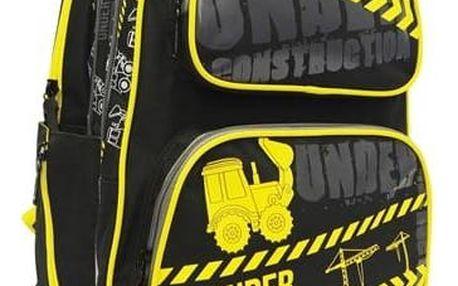 Karton P+P Anatomický batoh Ergo Kids - černo-žlutý - Tractor