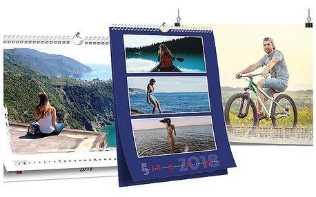 Originální nástěnný kalendář s vlastními fotografiemi v několika variantách