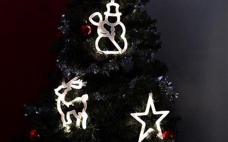Nexos 32549 Vánoční dekorace na okno - hvězda, sněhulák, sob - LED FROST