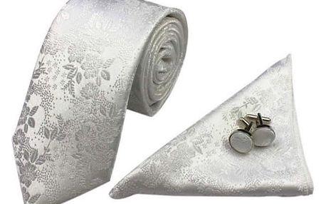 Kravata, kapesník a manžetové knoflíčky