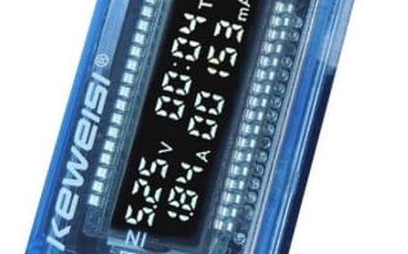 USB meřič s digitálním displejem