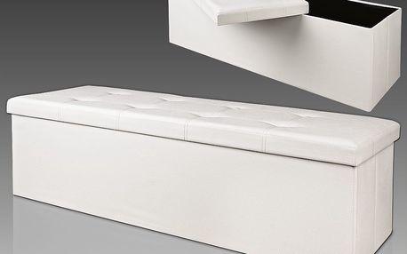 Lavice s úložným prostorem bílá D1621 Dekorhome