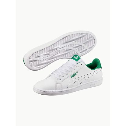 Boty Puma Smash Perf White-Verdant Green Bílá