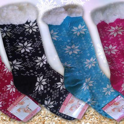 Jemné ovčí ponožky s hebkou podšívkou
