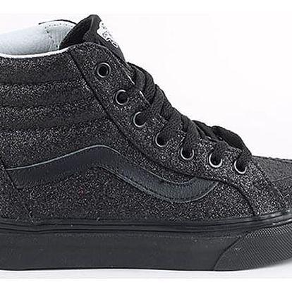 Boty Vans K Sk8-Hi Zip (Shimmer) Black Černá