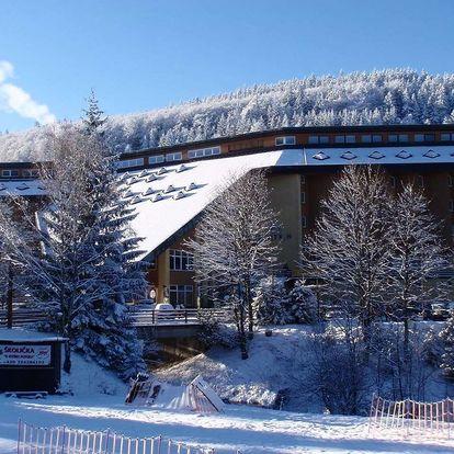 Hotel Fit Fun *** v Harrachově s polopenzí a wellness, skibus a 1 dítě zdarma