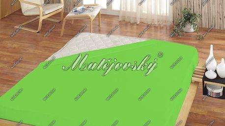 Matějovský prostěradlo froté zelená, 180 x 200 cm
