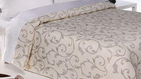 Forbyt Přehoz na postel Lis béžová, 240 x 260 cm