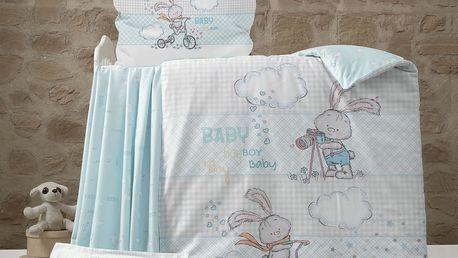Night In Colours RABBIT bílo-šedé, bavlna, 1x40x60 / 1x100x135 cm