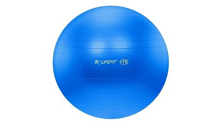 Gymnastický míč LIFEFIT ANTI-BURST 75 cm modrý