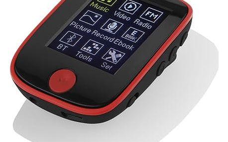 MP3 přehrávač GoGEN MXM 421 GB4 BT černý/červený