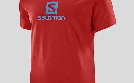 Tričko Salomon COTON LOGO SS TEE M Červená