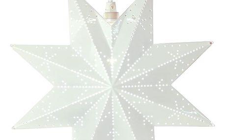 STAR TRADING Plechová závěsná hvězda White Dot, bílá barva, kov
