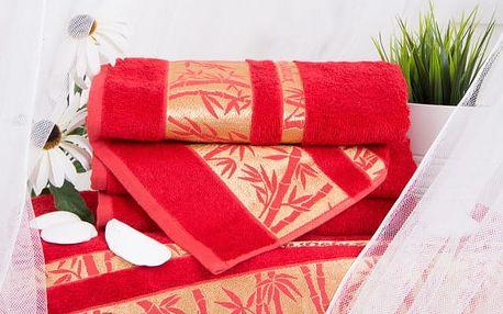 Night in Colours Bambusová osuška YOONA - červená 70x140 cm