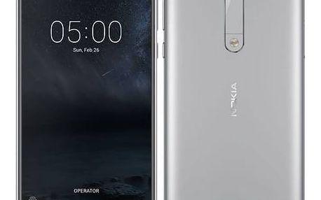 Mobilní telefon Nokia 5 Dual SIM (11ND1S01A13) stříbrný + Doprava zdarma