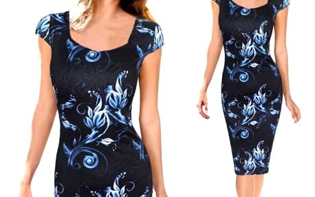 Bohatě zdobené šaty s krátkým rukávem - velikost 5 - dodání do 2 dnů