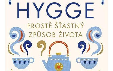Kniha HYGGE - Meik Wiking (česky), modrá barva, zlatá barva, krémová barva, papír
