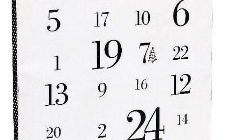 TAFELGUT Adventní kalendář Tafelgut Merry Christmas, černá barva, bílá barva, papír