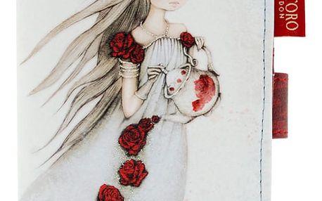 Santoro středně velká peněženka Mirabelle Rose Tea