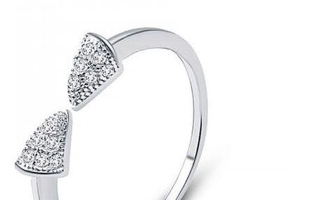 Nastavitelný prsten ze sterlingového stříbra 925 se zirkony Egyptian Hûggot