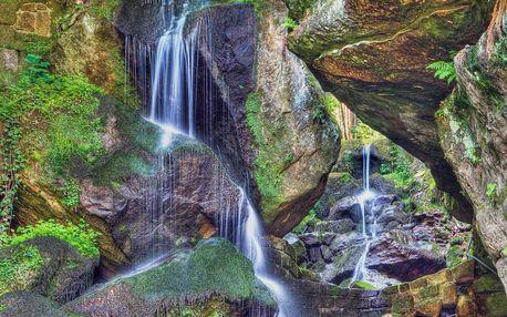 Tramvají přes hory k vodopádu Saského Švýcarska