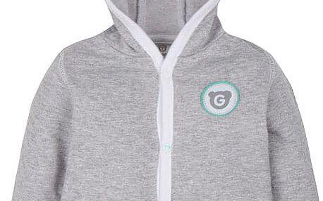 G-MINI Plus Kabátek s kapucí (vel. 74) - šedá