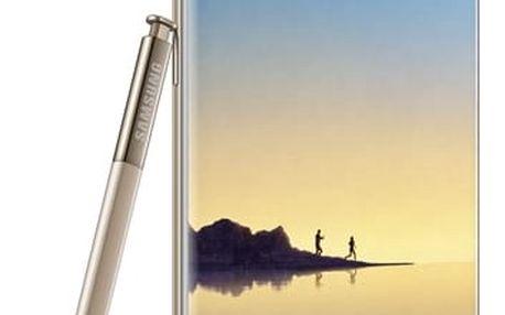 Mobilní telefon Samsung Note8 (SM-N950FZDDETL) zlatý + DOPRAVA ZDARMA