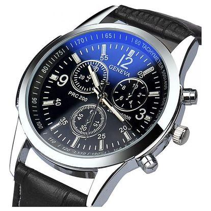 Analogové hodinky pro muže - černé